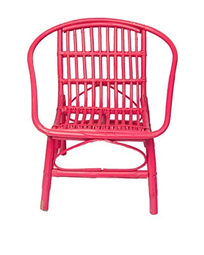 Mili Designs Indoor/Outdoor Rattan Chairs, Fuchsia