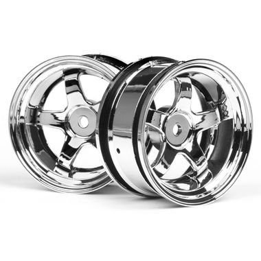 HPI 3592 Work Meister S1 Wheel 26mm Chrome (6mm Offset) (2)