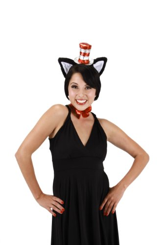 elope Cat In The Hat Teen Accessory Set, Black, One Size