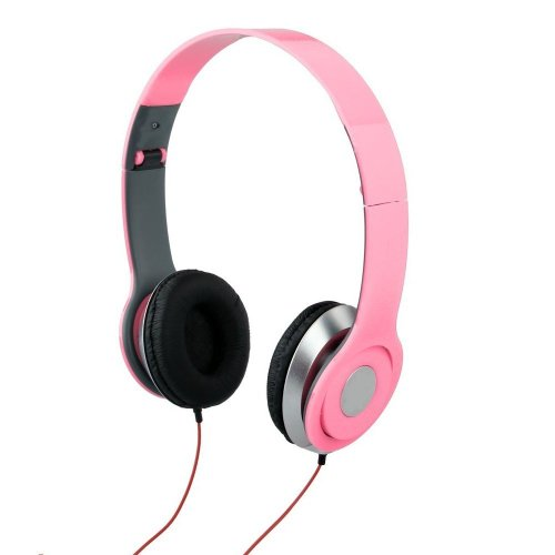 3.5Mm Foldable Stereo Headphone Earphone Headset For Dj Psp Mp3 Mp4 Pc (Pink)