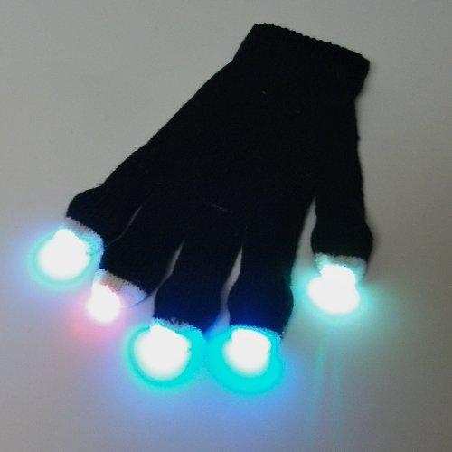 Glofx Premier Glove Set: Blue,Pink,Green 3-Color Strobe