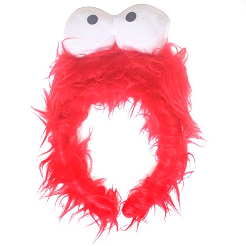 Kids Red Monster Furry Costume Headband