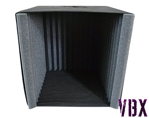 VBX Acoustic Foam Portable Vocal Booth Microphone Sound Isolation Reflection Filter - Perfect for Podcasts - USB Microphones - Desktop Recording - Pyramid Foam Style (Sound Booth Portable compare prices)
