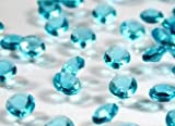 4000 Aqua/Turquoise Quality Diamond Scatter Crystals Wedding Table Decoration by Wonderland Home