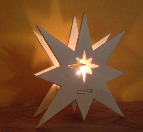 Kaleas-Laubsgevorlage-Stimmungsvoller-Leuchtstern-Weihnachtsstern-Holzstern-Teelichthalter