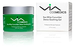 Sea Whip Cucumber Soothing & Hydrating Gel | Detox Gel Mask Enhanced with Hyaluronic Acid, Argan Oil, Botanical Extracts | Cools, Calms, and Heals Irritated Skin | Revitalizes and Moisturizes | Professional Skincare Treatment