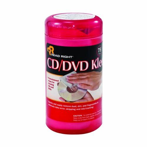 Advantus Read Right Cd/Dvd Kleen, 75 Wipes Per Pop-Up Tub (Rr1420) front-64319