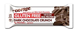 NuGo FREE Bar, Dark Chocolate Crunch, 1.59-Ounce Bars (Pack of 12)
