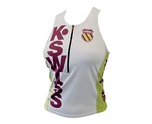 K-Swiss Tri Top Débardeur triathlon femme Sulphur Yellow/Clover FR : 36 (Taille Fabricant : S)