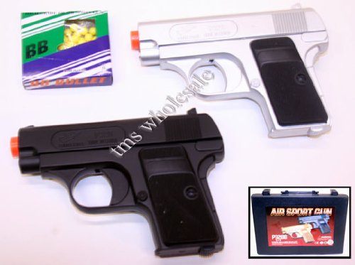 CYMA Airsoft Pocket Pistols w/ Case (Silver and