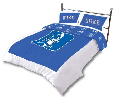 Duke Reversible Comforter Set - - Duke Blue Devils