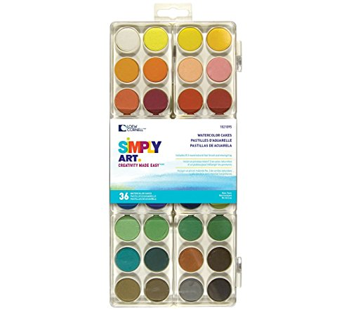 Loew Cornell 1021095 Simply Art Watercolor Cakes - 1