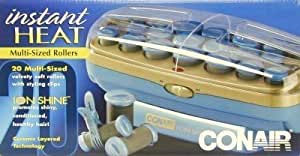Conair Ion Shine Hairsetter 20's Ceramic Ionic (3-Pack) with Free Nail File