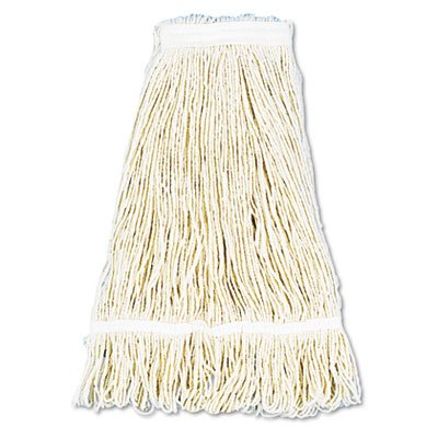 Unisan 424REA Pro Loop Web/Tailband Wet Mop Head, Rayon, 24oz, White (24oz Rayon Wet Mops compare prices)