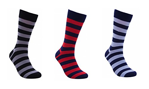 Rambutan-Mens-Party-Collection-Bamboo-Seamless-Striped-Socks-US-85-125-Colorful