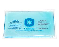6 x 10 Reusable Gel Ice Packs Microwavable Hot Packs for Pain Relief, Ideal Hot Cold Pack for First Aid By IceWraps (Blue)