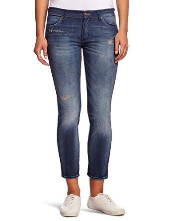 Wrangler - Jean - Boyfriend - Femme - Bleu (Blue) - FR : W26/L32 (Taille fabricant : W26/L32)