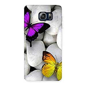 Special Butterflies white stones Back Case Cover for Galaxy Note 5