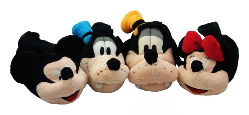 New Kids DISNEY Mickey Minnie Goofy Novelty Slippers Size 6 7 8 9 10 11 12 13 1