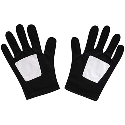 Kids Black Spider-Man Gloves - One Size