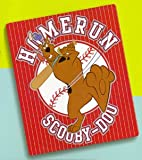 Scooby Doo Baseball Homerun Fleece Blanket Throw