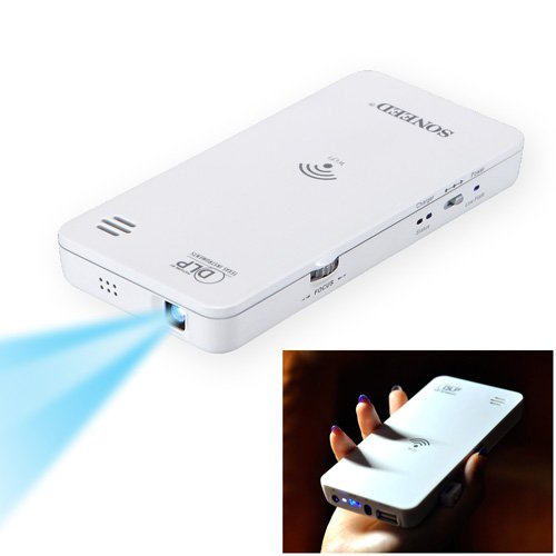 New arrival portable mini hd wireless wifi dlp projector for Best portable projector for iphone
