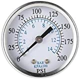 "Alcoa Prime Pressure Gauge Pressure Manometer Air Compressor Pressure 0-14 Bar 1/4"" NPT"