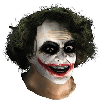 Joker Mask with Hair Costume Accessory
