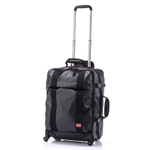 HIDEO WAKAMATSU(ヒデオワカマツ)フェザーPVC TSA対応4輪ソフトキャリーバッグ Sサイズ ブラック (85-75821)