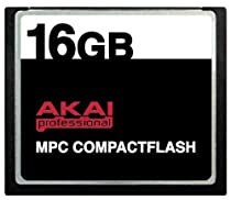 16GB Akai MPC CompactFlash CF Memory Card for MPC500, MPC1000, MPC2500 and MPC5000