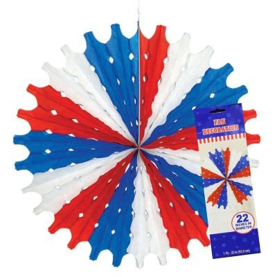 Patriotic Large Hanging Fan Decoration (1 per package)