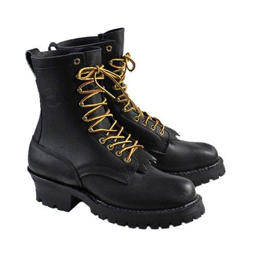(ホワイツブーツ) WHITE'S BOOTS 8インチ スモークジャンパー [ブラック] 375V08 8inch SMOKE JAMPER Eワイズ BLACK LEATHER メンズ ホワイツブーツ US10.5(約28.5cm) BLACK (並行輸入品)