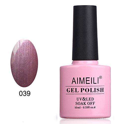 AIMEILI Soak Off UV LED Gel Nail Polish - Purple Sheen (039) 10ml