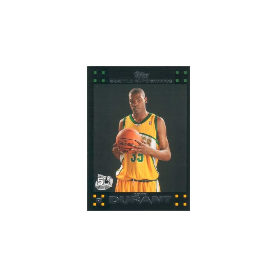 Kevin Durant 2007 2008 Topps Mint Condition Rookie Year Card #112 Picturing This Oklahoma City Thunder Star in His Seattle Supersonics Jersey