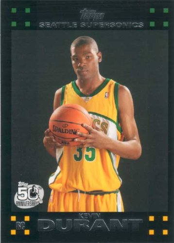 Kevin Durant 2007 2008 Topps Mint Condition Rookie Year Card #112 Picturing This Oklahoma City Thunder Star in His Seattle Supersonics Jersey! at Amazon.com