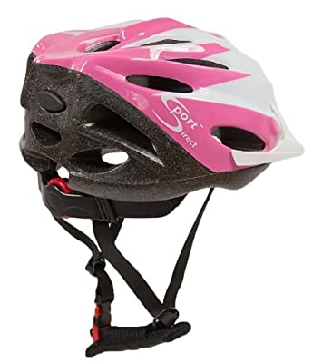 Sport Direct 22 Vent Girls Pink Junior Helmet 54-56cm from Sport Direct