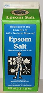 White Mountain Epsom Salt 3 Lb / 48 Oz Containers (Pack of 2)