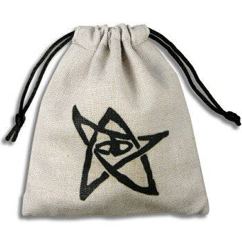 Q-Workshop: Call of Cthulhu / COC Dice Bag in Linen