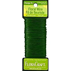 FloraCraft 26-Gauge Paddle Wire, 270-Feet, Green