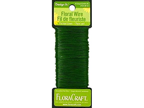 FloraCraft 26-Gauge Paddle Wire, 270-Feet, Green (Floral Wire compare prices)
