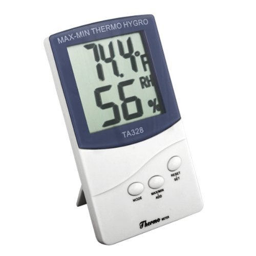 Foxnovo TA328 2-in-1 LCD Digital Thermometer Temperature Meter Hygrometer with Stand (White) - 1