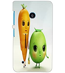 NOKIA LUMIA 530 DUAL VEGETABLES Back Cover by PRINTSWAG