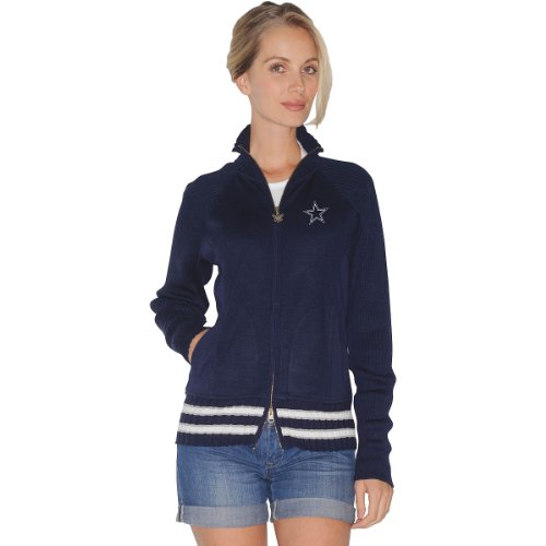Touch by Alyssa Milano Dallas Cowboys Women's Sweater Mix Jacket Small at Amazon.com