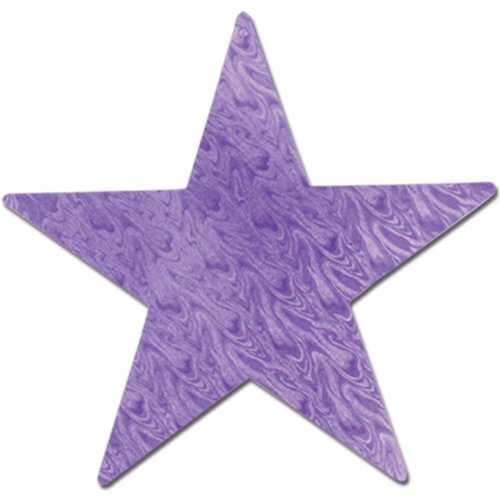 Embossed Foil Star Cutout (purple) Party Accessory  (1 count)