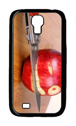 Samsung Galaxy S4 I9500 Case,Mokshop Adorable Funny Apple Knife Hard Case Protective Shell Cell Phone Cover For Samsung Galaxy S4 I9500 - Pc Black