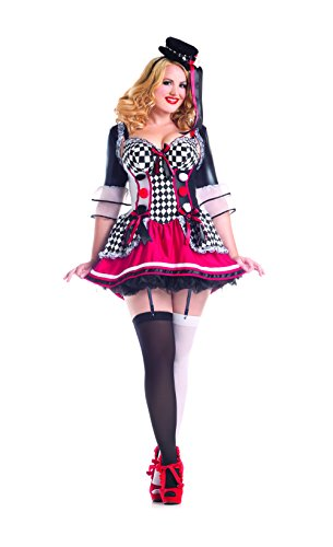 Party King Women's Plus Size Pretty Harlequin Sexy Costume