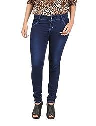 De Krono Women's Skinny Fit Jeans - DSA 002_34_34_Blue