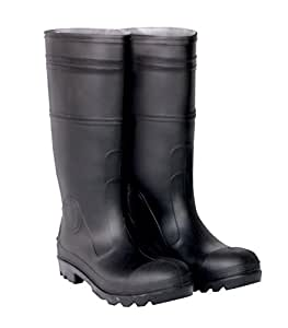 CLC Rain Wear R23010 Over The Sock Black PVC Rain Boot, Size 10