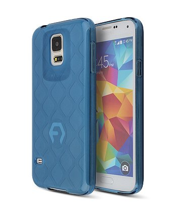 S5 Case, Aqua Bumper, Samsung Mobile Galaxy S 5 Soft Jelly Cover 7 Colors Tpu Slim Fit (At&T, Verizon, Sprint, T-Mobile) - Retail Packaging (Blue)