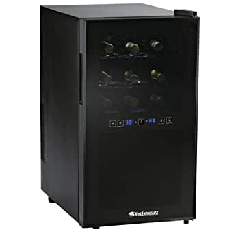 Wine Enthusiast Silent 18 Bottle Two-Temp Touchscreen Wine Refrigerator